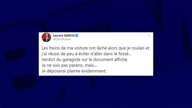 Capture Twitter de Laurent Garcia