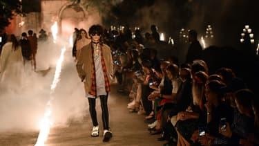 Un défilé Gucci en mai 2018