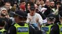 Rassemblement anti-confinement à Melbourne, Australie, le 18 septembre 2021