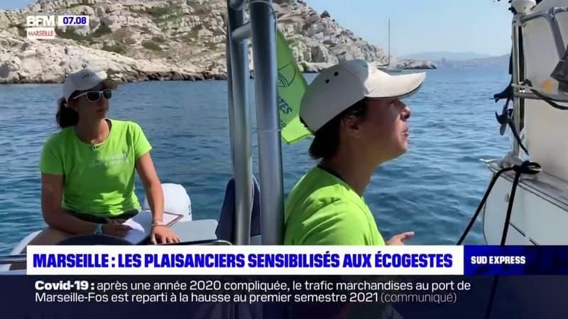Marseille: des bénévoles sensibilisent les plaisanciers aux écogestes