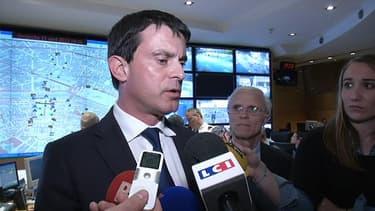 Manuel Valls, le ministre de l'Intérieur, à la préfecture de police de Paris le 21 avril 2013.
