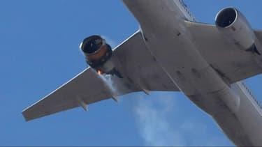 Le réacteur d'un Boeing 777 a pris feu au-dessus du Colorado, le 20 février 2021.