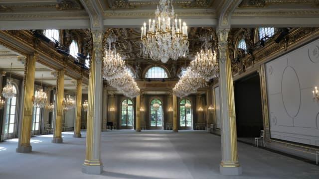 La nouvelle salle des fêtes de l'Elysée a été rénovée en seulement six semaines.