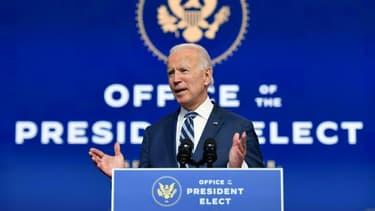Le président élu Joe Biden, le 10 novembre 2020 à Wilmington, dans le Delaware