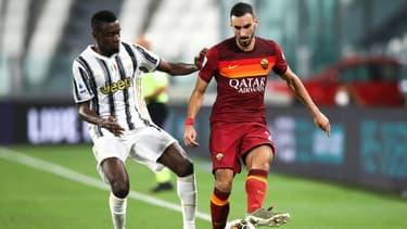 Matuidi face à Zappacosta lors de Juve-Roma