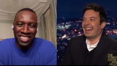"Omar Sy dans l'émission ""The Tonight Show Starring Jimmy Fallon"""