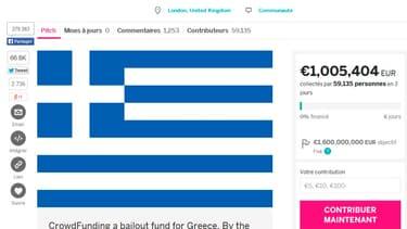 L'opération citoyenne de financement de la Grèce a atteint le million d'euros.
