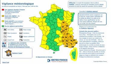 Dans son dernier bulletin de vigilance diffusé mardi à 10h15, Météo France a élargi son alerte orange à 16 départements.