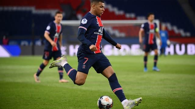 Mbappé lors de PSG-Reims
