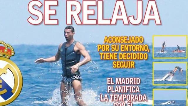 La Une de As sur Cristiano Ronaldo