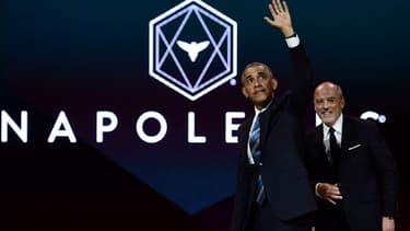 Barack Obama et Stéphane Richard lors de la conférence organisée par les Napoléons