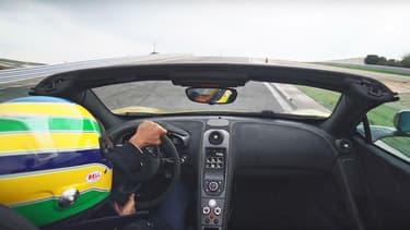 Bruno Senna à bord d'une McLaren