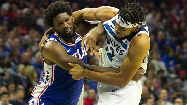Joel Embiid et Karl-Anthony Towns