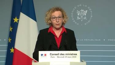 Muriel Penicaud à l'issue du Conseil des ministres.