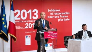 Pierre Moscovici et Jérôme Cahuzac ont présenté le budget 2013