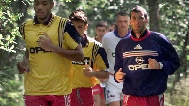 Thierry Henry, Vincent Candela, Aimé Jacquet et Zinedine Zidane