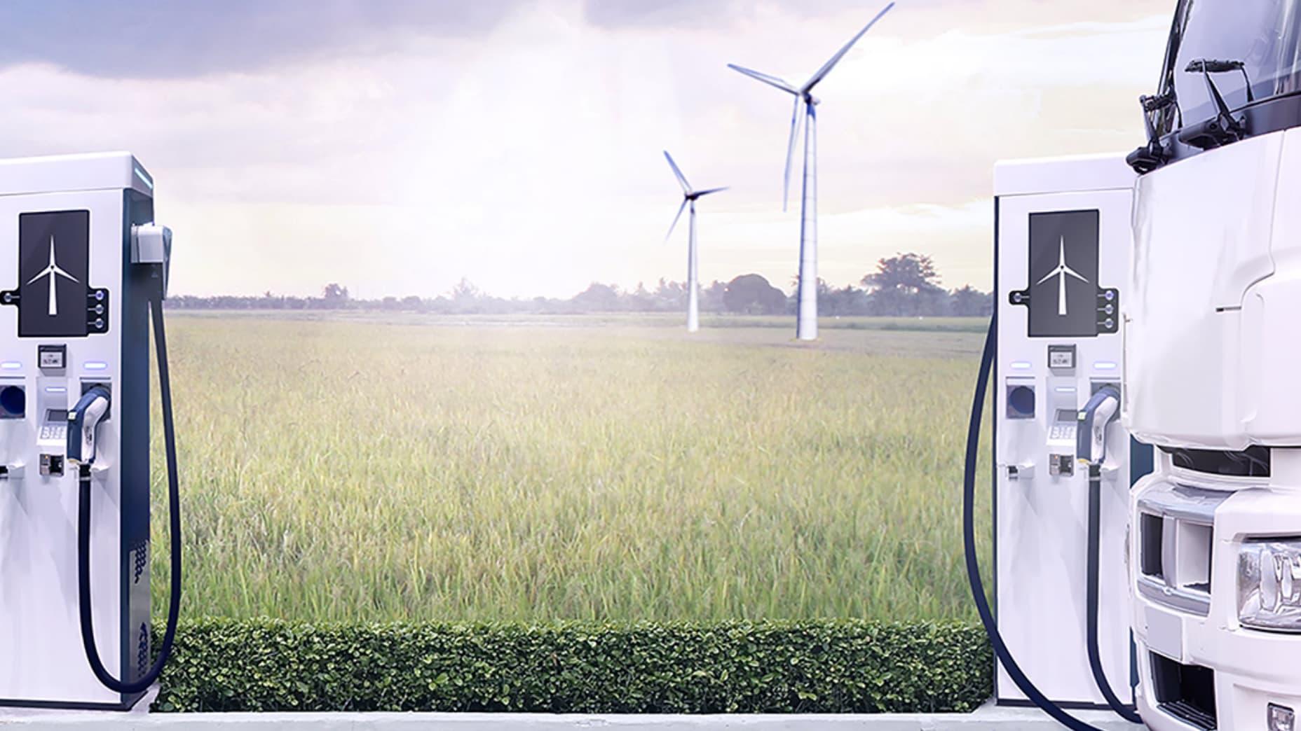 Bientôt des éoliennes pour recharger les voitures électriques sur ...