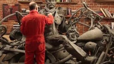 La statue de Johnny de Linas