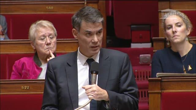 Olivier Faure, ce mercredi à l'Assemblée