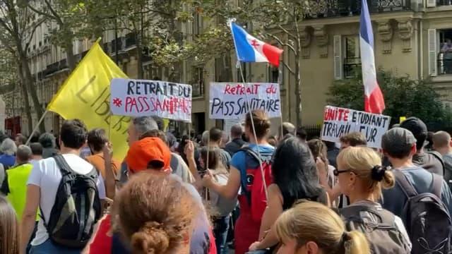 Manifestation contre le pass sanitaire et l'obligation vaccinale pour certaines professions, le 18 septembre 2021 à Paris