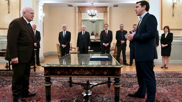 Alexis Tsipras prête serment en tant que Premier ministre de la Grèce ce lundi 26 janvier