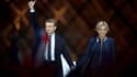 Emmanuel et Brigitte Macron le 7 mai 2017 au Louvre, au soir de sa victoire à la présidentielle.