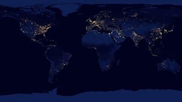 La consommation électrique dans le monde en 2012.