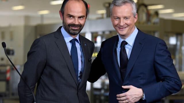Edouard Philippe et Bruno Le Maire ont visité une usine L'Oréal de l'Oise.