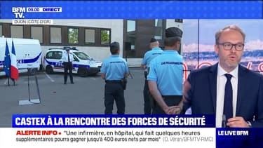 Castex à la rencontre des forces de sécurité - 10/07