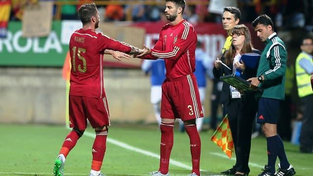 Sergio Ramos et Gérard Piqué