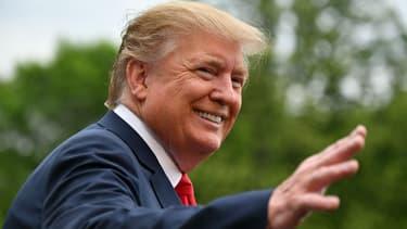 Donald Trump face à la presse dans les jardins de la Maison blanche, le 26 avril 2019