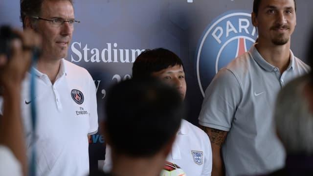 Laurent Blanc et Zlatan Ibrahimovic