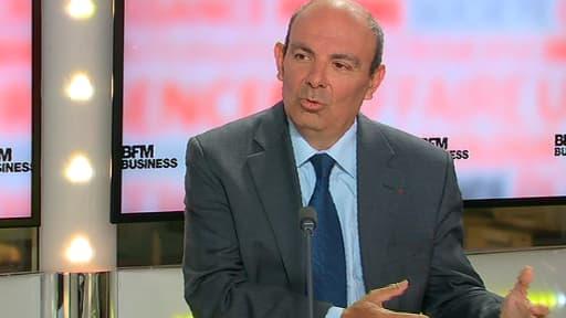 Eric Trappier, le PDG de Dassault Aviation, était l'invité de BFM Business, jeudi 22 mai.