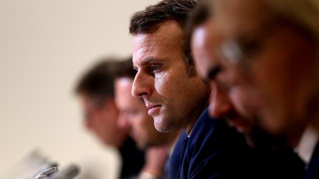 Emmanuel Macron à Epernay le 14 novembre dernier.