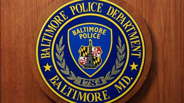 Le logo de la police de Baltimore, ville américaine où la suspecte a été interpellée lors d'un banal contrôle routier.