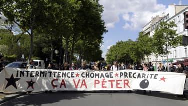 Manifestation des intermittents à Paris le 14 mai 2014.
