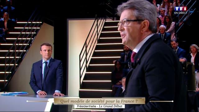 Jean-Luc Mélenchon et Emmanuel Macron ont échangé plusieurs moments de complicité lors du débat.