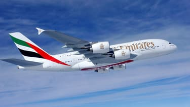 Un A380 de la compagnie Emirates