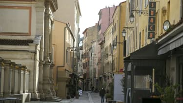 Un rue déserte à Ajaccio, en Corse, le 30 octobre 2020, premier jour du second confinement (photo d'illustration)