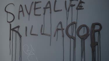 Graffiti d'un manifestant new yorkais.