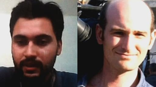 Pierre Torrès, à gauche, et Nicolas Hénin, à droite, sont retenus en otage en Syrie depuis le 22 juin dernier.