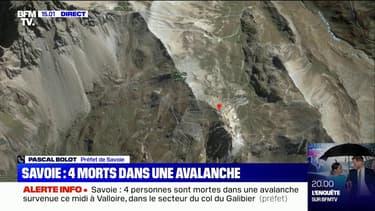 """Avalanche en Savoie: """"Il y a quatre victimes décédées et une rescapée en bonne santé"""", selon le préfet"""
