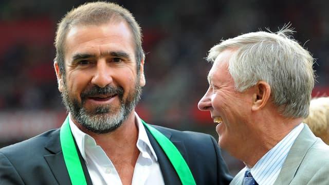 Eric Cantona et Alex Ferguson