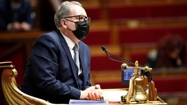 Le président de l'Assemblée nationale, Richard Ferrand (LREM), le 26 janvier 2021 à l'Assemblée à Paris