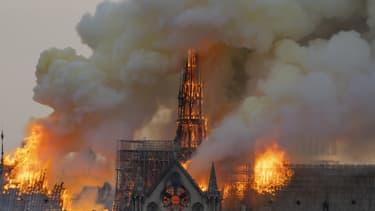 L'incendie survenu lundi soir à Notre-Dame a ravagé une partie de la cathédrale. - Fabien Barrau - AFP