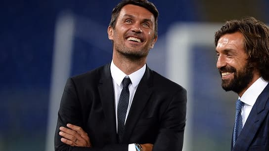 Entre 2001 à 2009, Paolo Maldini et Andrea Pirlo ont remporté deux Ligue des champions avec le grand Milan AC.
