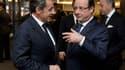 Nicolas Sarkozy et François Hollande à l'occasion des funérailles de Nelson Mandela.