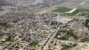 Une vue aérienne de Miranshah, au nord du Pakistan, le 9 mars 2006.