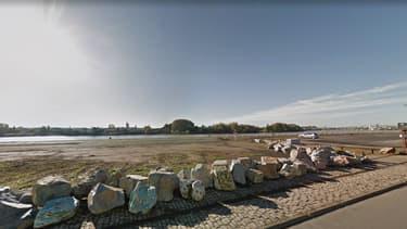 Le quai Wilson, sur l'île de Nantes.