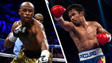 Floyd Mayweather (à gauche) et Manny Pacquiao s'affronteront pour la première fois le 2 mai.
